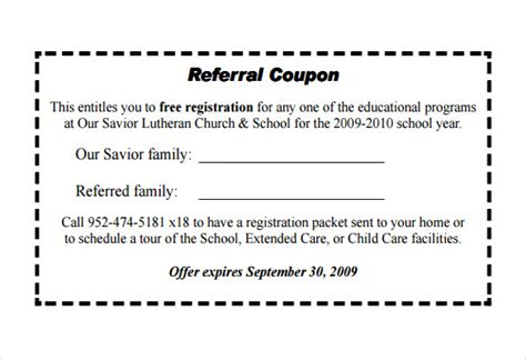 18 Referral Coupon Templates Free Sle Exle Format Download Free Premium Templates Coupon Template Pdf