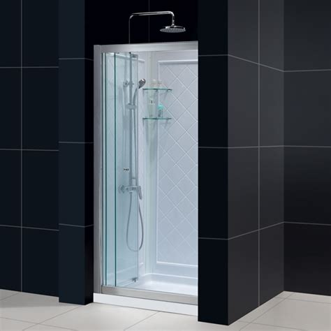 Bathroom Shower Kits by Butterfly Bi Fold Shower Door Base Backwall Kits