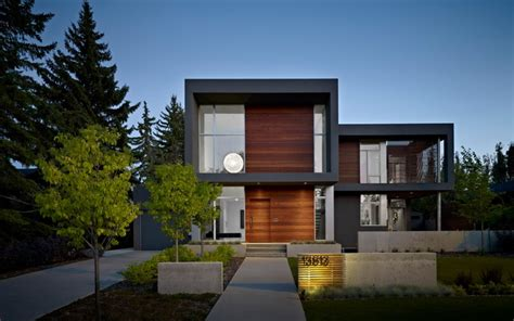 Exterior Home Design Edmonton Sd House Modern Exterior Edmonton By Thirdstone