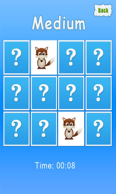 animals memory game for kids free android app android freeware
