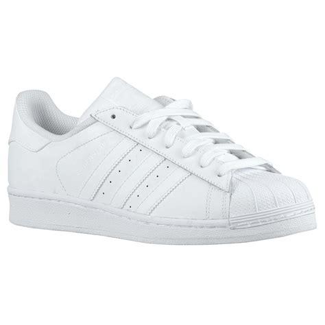 Adidas Superstar All White 100 Original adidas superstar white white womens trainers s85139