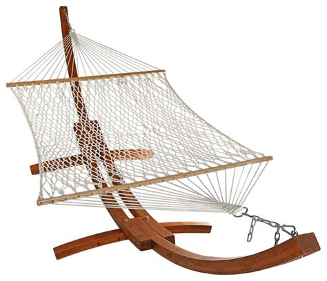 wooden hammock swing wooden curved arc hammock stand set cotton rope 13 wood