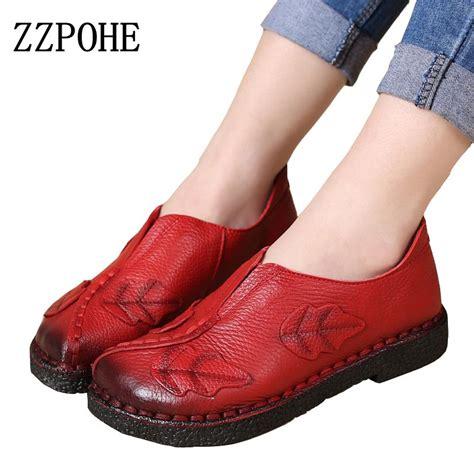 zzpohe soft sewn shoes leather fashion