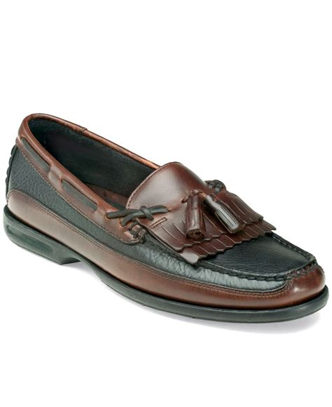 black sperry loafers sperry top sider tremont kiltie tassel loafers in brown