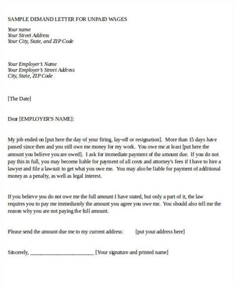 Demand Letter Proz sle demand letter for unpaid wages best image wallpaper
