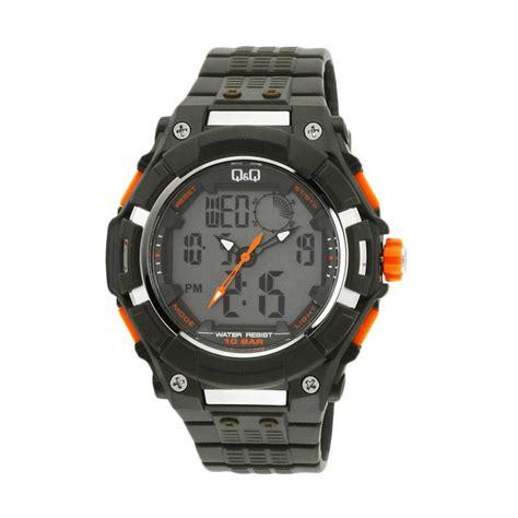 jual q q analog gw80j004y tali rubber jam tangan pria