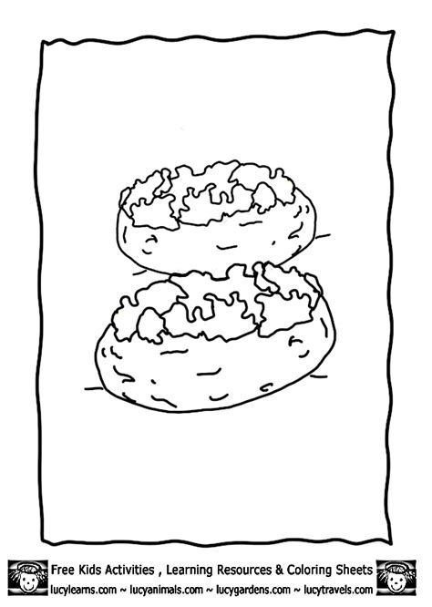 Mashed Potatoes Coloring Pages Potato Coloring Pages