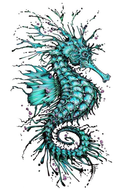 seahorse tattoo designs black seahorse images designs