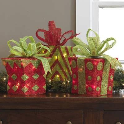 raz lighted christmas packages christmas decorating