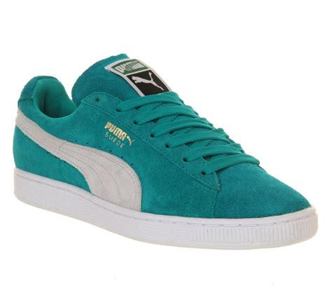 pumas shoes mens suede classic blue grass trainers shoes ebay