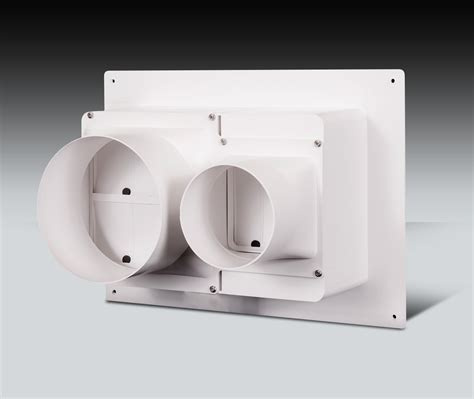in wall vent fan double horizontal exhaust box model dheb s xventbox