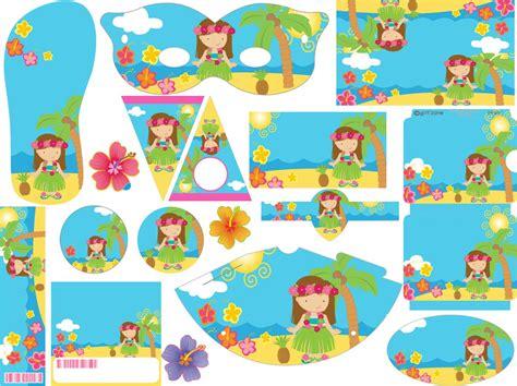 imagenes de cumpleaños hawaiano kit imprimible cumpleanos tarjeta invitaciones hawaiana