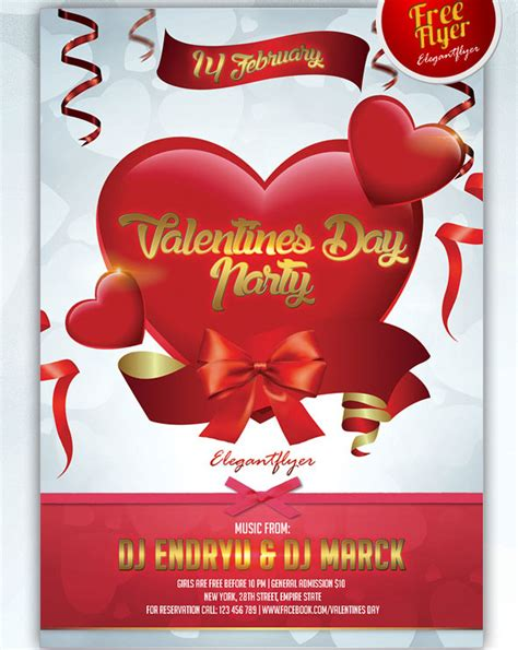 free valentines day flyer templates 25 psd flyers elements for st s day free