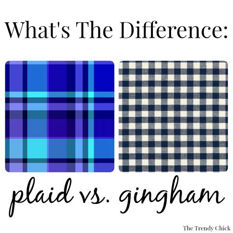 plaid vs tartan the trendy chick what s the difference plaid vs gingham