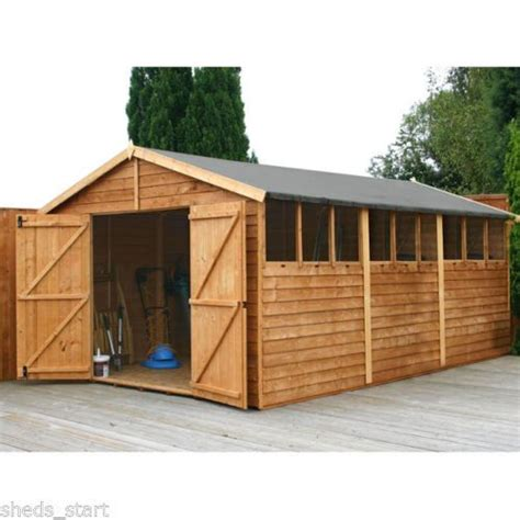 wooden workshop shed ft  ft large sheds timber