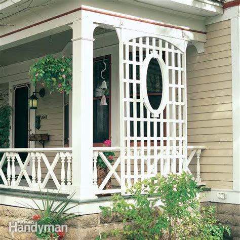 Trellis Porch latticework porch trellis the family handyman