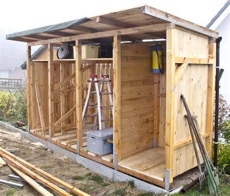 Scheune Pultdach by Bau Eines Holzlagers Vesab De