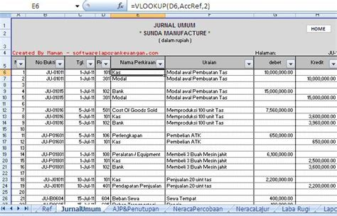 membuat jurnal umum excel membuat software akuntansi laporan keuangan dengan