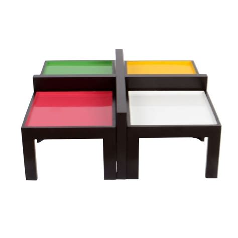ludo coffee table safron quot ludo quot coffee table with four side stools skarabrand