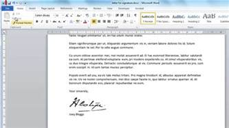 Signature Template For Word by How To Create Digital Signature In Word