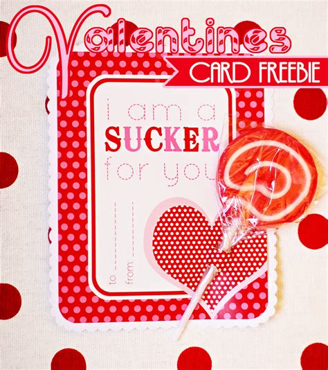 free valentines cards amanda s to go freebie quot sucker for you