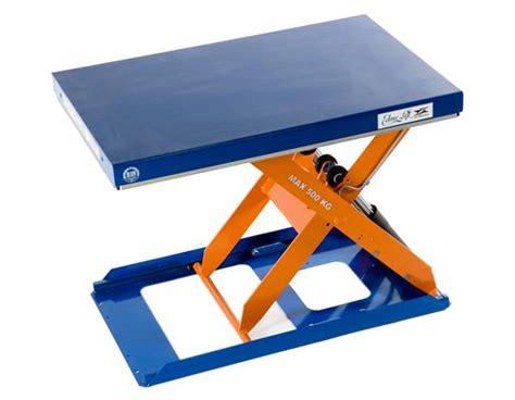 low profile lift table scissor lift tables low profile tcr 500 edmolift
