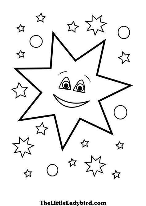 coloring pages of a small star free stars coloring pages thelittleladybird com
