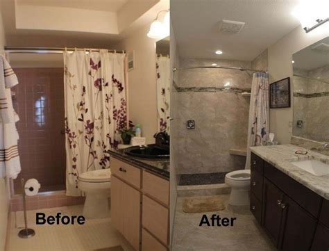 remodeled bathrooms before and after