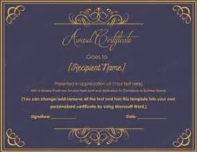 award of excellence certificate template 10 best award certificate templates for 2016