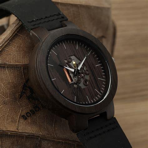 Jam Tangan Kayu Bobobird bobo bird black wood mens quartz watches real