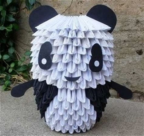 how to make 3d origami panda 116 best images about 3d origami d on origami