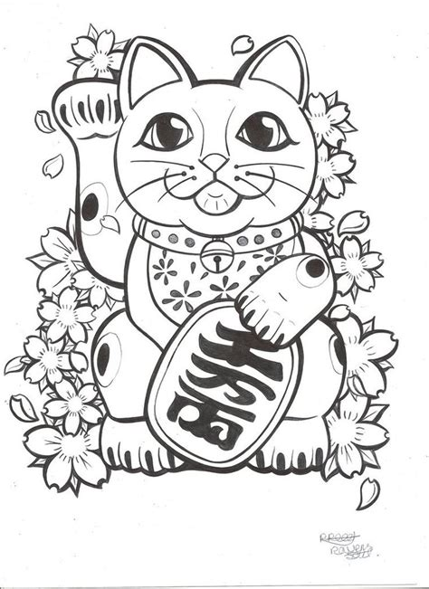 lucky cat tattoos lucky cat tattoo commission by ravenssouldesigns d6ctrbq