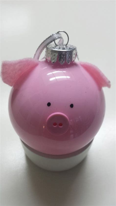 pig ornament christmas pinterest glasses christmas