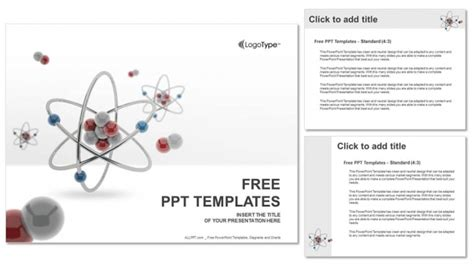3d model templates 3d atom model powerpoint templates