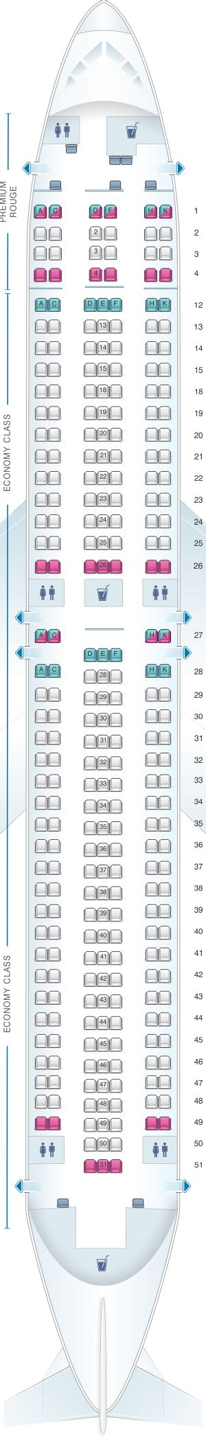 Seat Map Boeing Air Canada by Plan De Cabine Air Canada Boeing B767 300er 763 Rouge