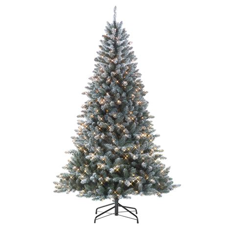 menards colorado flocked pine smith 7 pre lit colorado flocked pine tree shop your way shopping earn