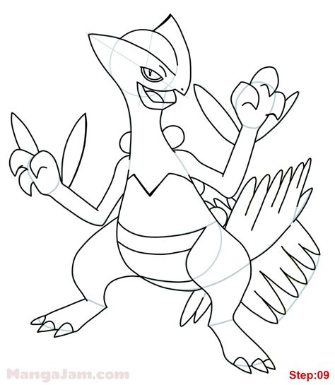pokemon coloring pages sceptile how to draw sceptile pokemon mangajam com