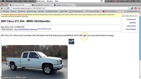 Auto Upholstery Knoxville Tn by Craigslist Knoxville Tn Used Cars For Sale By Owner Cheap