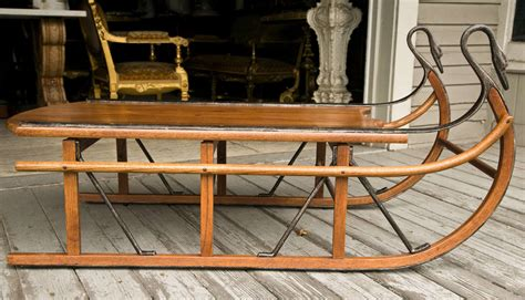 Unusual Coffee Table In The Form Of A Sled At 1stdibs Sleigh Coffee Table