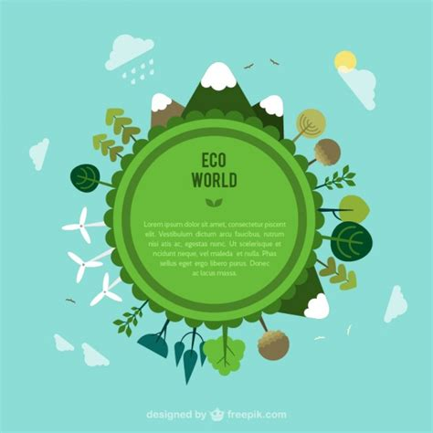 eco world new year advertisement eco world template vector free