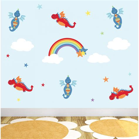 rainbow wall stickers uk and rainbow nursery wall stickers