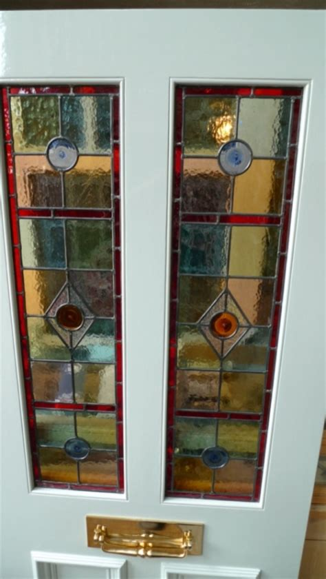 The Stained Glass Door Company Stained Glass Front Door 2 2 Panels Stained Glass Doors Company