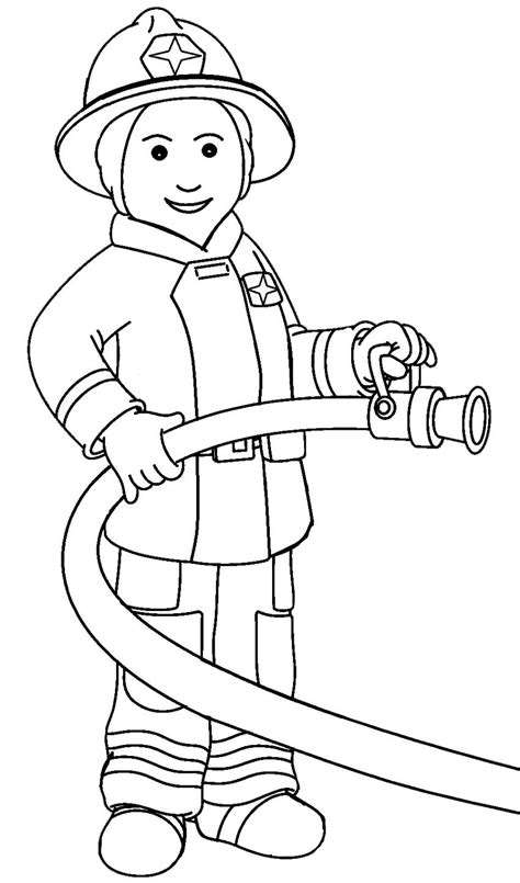 printable firefighter coloring pages with firefighter
