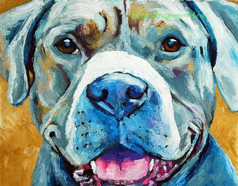 pit paint painting gray pit bull spencer