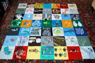 a quilt made out of t shirts sewing