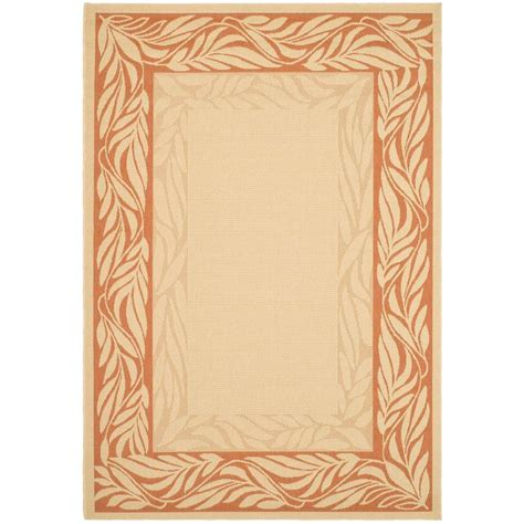 Safavieh Courtyard Natural Terracotta 8 Ft X 11 Ft Outdoor Rugs Home Depot