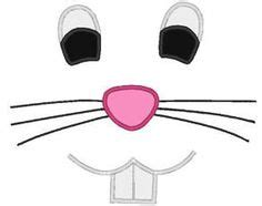 printable bunny eyes easter bunny face pattern use the printable outline for