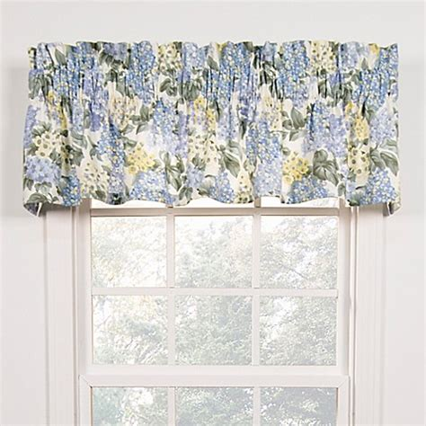 bed bath beyond valances hydrangea tailored window valance bed bath beyond