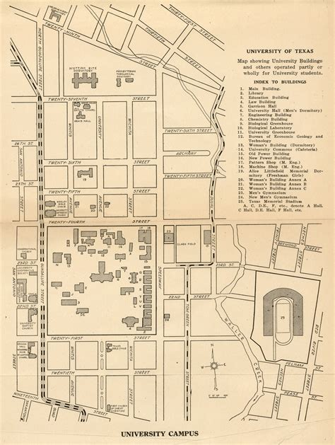 map of university of texas ut cus map my