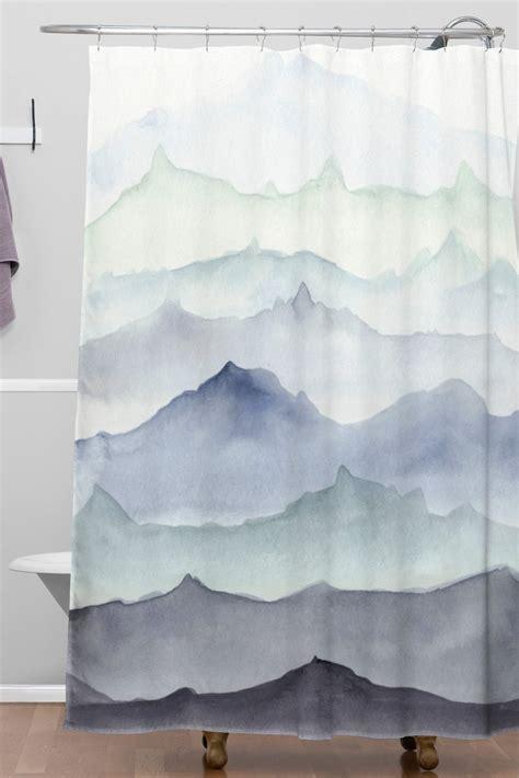 mountain shower curtain mountain mist woven shower curtain wonder forest